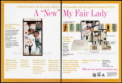 MY FAIR LADY__Original 1994 Trade Print AD / promo__AUDREY HEPBURN__REX HARRISON