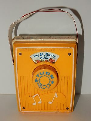 Fisher Price 1970 The Mulberry Bush Music Box Pocket Radio No. 758