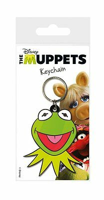 The Muppets  - Rubber Keychain / Key Ring (Kermit Face)
