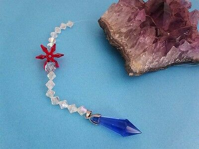 Blue Austrian Crystal With Bicone Beads Christmas Pendulum/Decor- Ask Questions