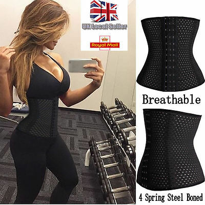 UK Waist Trainer Breathable Women Cincher Control Slimming Belt Body Shaper Hot