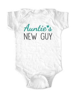 Auntie's New Guy - cute & funny baby one piece bodysuit infant