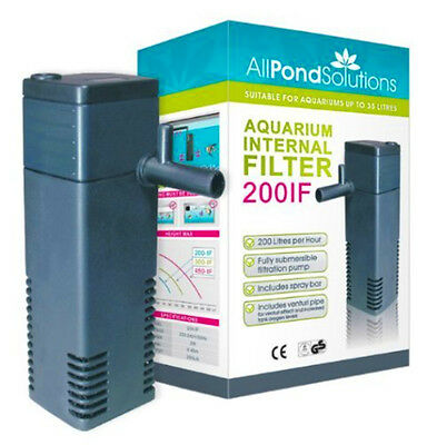 All Pond Solutions 200IF Aquarium Internal Filter, 200 Litre/ Hour
