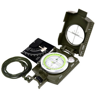 Professional Military Army Sighting Luminous Compass with Inclinometer Travel AU