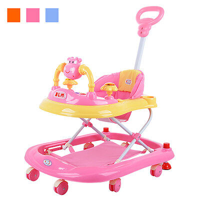 Stylish Baby Walker With Music Portable Toddler First Step Learning Activity Toy