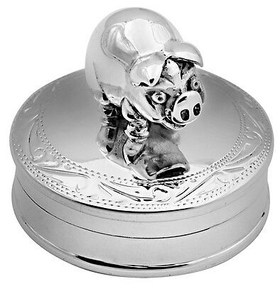 Pig Pillbox Sterling Silver 925 Hallmarked New From Ari D Norman