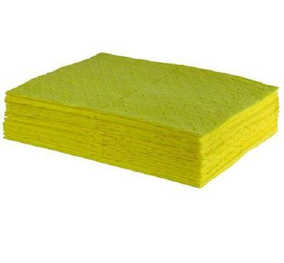 10 pack Chemical Spill Absorbent Pads - keep handy or refill your spill kit
