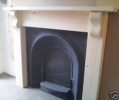 "Solid Pine ""chunky"" Fire Surround With Corbels"
