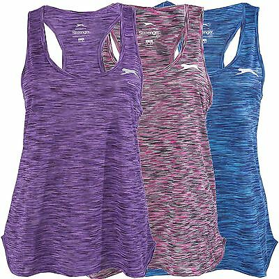 Slazenger Womens Vest Racer Back Ladies Loose Fit Top Sports Activewear 8 - 16