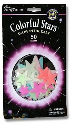 Great Explorations Glow in the Dark - Colourful Stars 50
