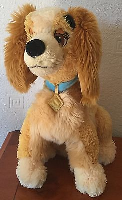 Disney Store Exclusive Lady & The Tramp Large 14 Inch Lady Soft / Plush Toy