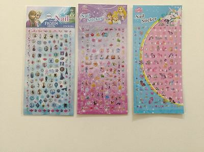 Nail stickers lot Frozen Disney Princess pony nail art decal Anna Olaf 100+ pcs
