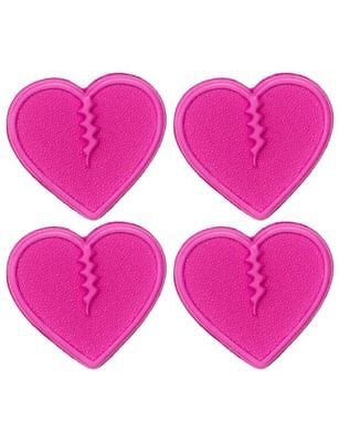Crab Grab Mini Hearts Traction Pads (4 pack) (Pink) Mens Unisex  New
