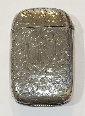 United Kingdom Birmingham Sterling Silver Match Safe by W.F.C. 1894