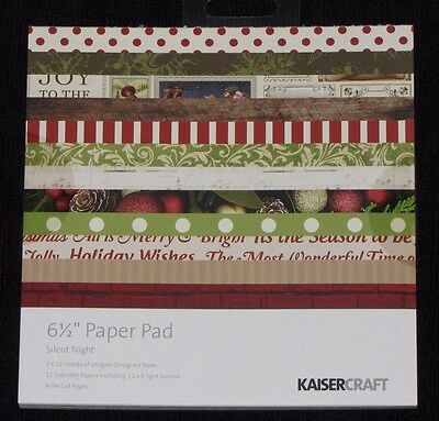 "Kaisercraft 'SILENT NIGHT' 6.5"" Paper Pad Christmas KAISER *Deleted 1 LEFT ONLY*"