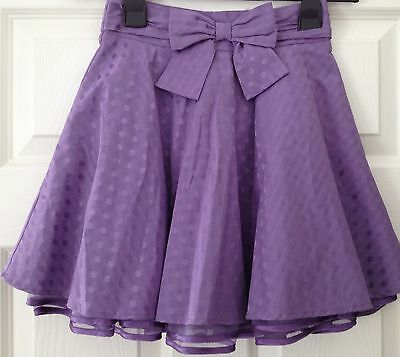 M&S AUTOGRAPH GIRLS AGE 6 yrs Soft Violet layered SKIRT