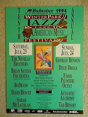 Neville Brothers 1994 Winterpark Music Festival Colorado Concert Poster NM