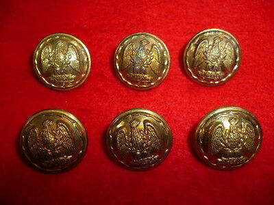 Set of (6) Royal Scots Greys Gilt Officer's Buttons, 20 mm size