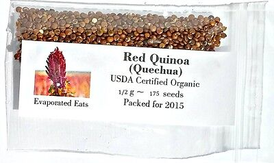 USDA Organic Red Quinoa Grain Sprouting Seed Non GMO Freshly Packed For 2017