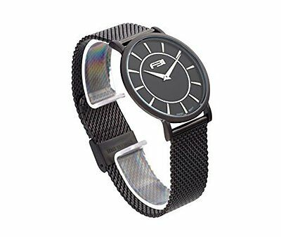 """FBI Men's FW114105 """"Agent"""" Black Stainless Steel Watch with Mesh Band"""