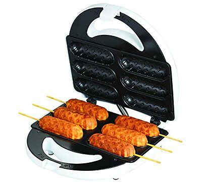 Electric Corn Dog Maker Hotdog Sandwich Waffle Cooking Machine Snack Stick Baker