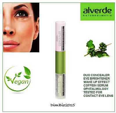 Duo Concealer Eye Brightener & Wake-up Cooling Effect Caffeine Serum  Alverde