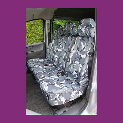 Peugeot Expert 2007 - 2016 Tailored & Waterproof Grey Camouflage Seat Covers