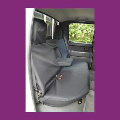 Ford Ranger Double Cab 2006-2011 Tailored Rear Back Black Seat Covers UK Made