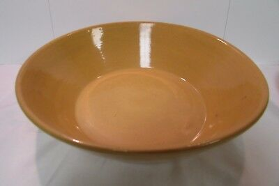 "Massive 12.5"" Antique Yellow Ware Bowl Pan"