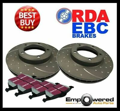 DIMPL SLOTTED FRONT DISC BRAKE ROTORS+PADS for Mitsubishi Triton 4WD 1986-96