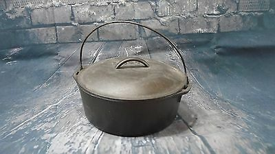 "Vintage Lodge Dutch Oven with Lid 10 1/4"" 8DO With Handle"