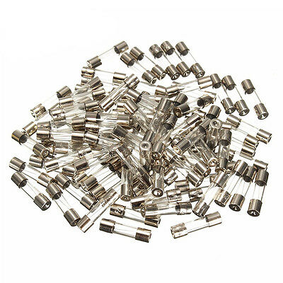 100Pcs Set 5x20mm Slow Blow Glass Tube Fuse Assorted Kits Glass Fuses Useful