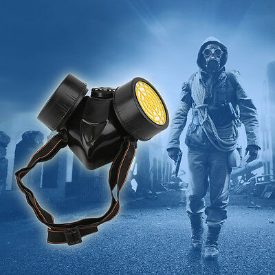 Emergency Survival Safety Respiratory Gas Mask With 2 Dual Protection Filter D#