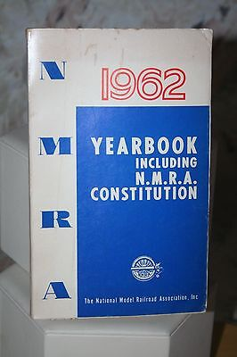 National Model Railroad Association Yearbook Constitution 1962 Softcover Train
