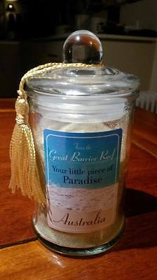Sand from the Great Barrier Reef in elegant Glass Jar