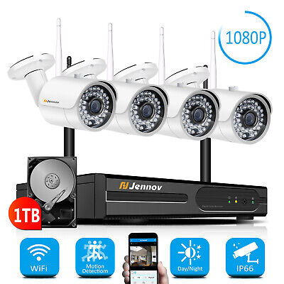 Jennov 8CH 1800Tvl AHD Cctv Security Camera System Outdoor Day Night  Home Video