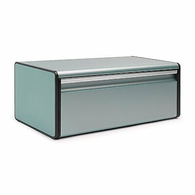 Brabantia Fall Front Bread Bin Soft Touch Closing Opening System Tin Mint