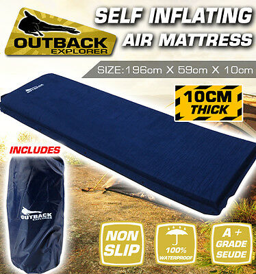 Air Bed Self Inflating Mattress Foldable Inflatable Camping Mat 10cm Thick