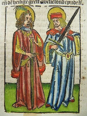 Primus Felician Barnabas Inkunabel Holzschnitt Passionael 1505 Incunable J07