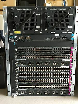 Cisco Catalyst 4510R chassis w/ PSU,SUP-V,Fan,Line Cards