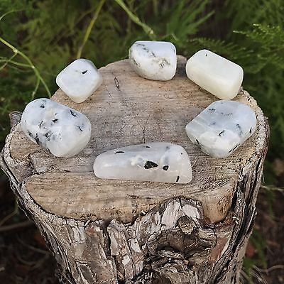 *2* Rainbow Moonstone Natural Healing Tumbled Stones 20mm - 25mm