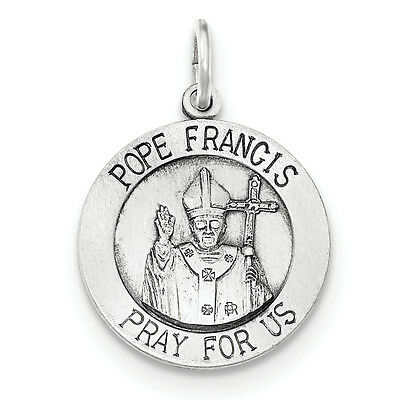 Argent Sterling .925 Cara Vaca Crucifix Charm Pendentif PDSF $21