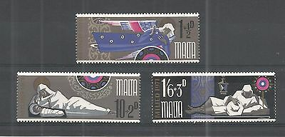 Malta 1971 Christmas Sg,460-462 Um/m Nh Lot 974A