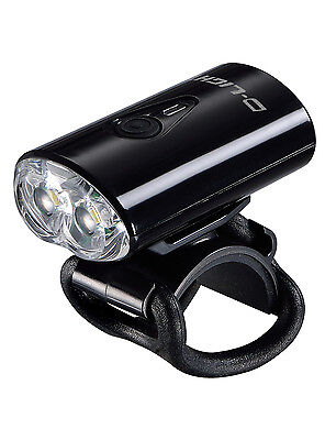 D-LIGHT 2 LED USB Rechargeable Bike Bicycle Safety Front Head Light Black