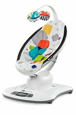 4MOMS Mamaroo Polyester Corded Electric Female BABY SEAT BOUNCER, Multi Plush