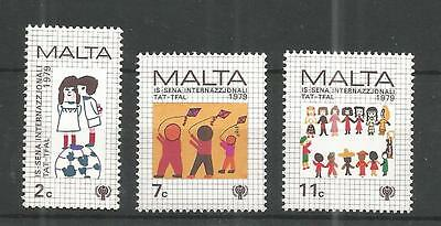 Malta 1979 Year Of The Child Sg,627-629 Um/M Nh Lot 990A