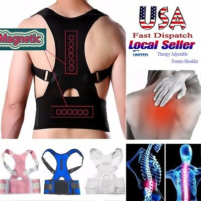 Therapy Posture Corrector Back Shoulder Support Brace Straightener Unisex SFC