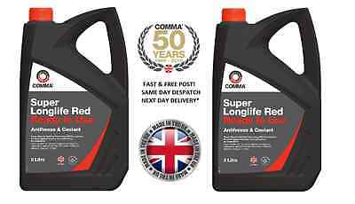 Longlife 10L Red / Pink Antifreeze Summer - Winter Coolant 10 Litres Gl12+  -40
