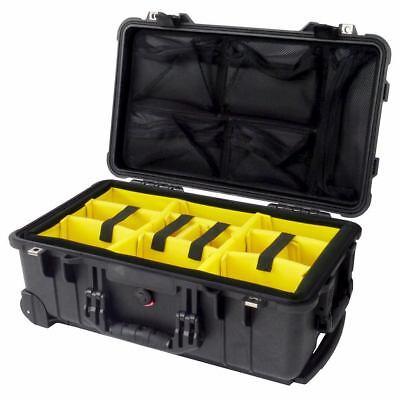 Black Pelican 1510 With Dividers (Yellow) & 1519 Lid Organizer.