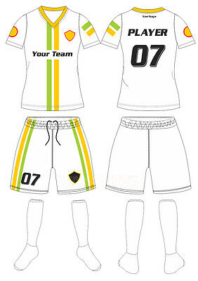 11898454e 20 CUSTOM MADE SOCCER UNIFORM SETS (JERSEY AND SHORTS) – ADULT SIZES ...